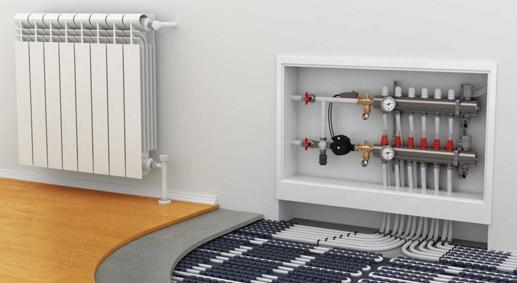 家用散热器安装流程: